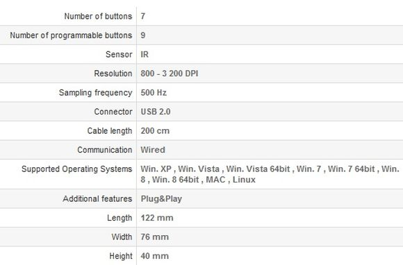 Natec Genesis GX66 - specificatii
