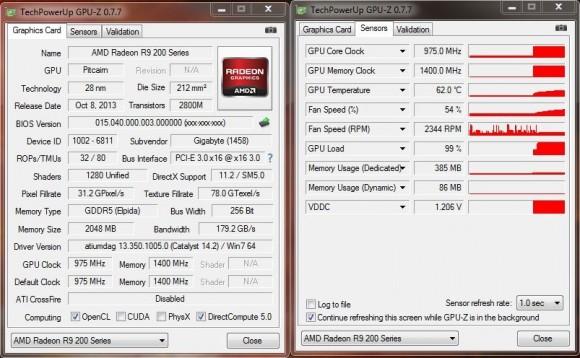 GIGABYTE GV-R927OC-2GD - GPU-Z Stock FurMark