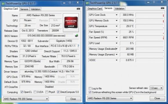 GIGABYTE GV-R927OC-2GD - GPU-Z Stock Idle